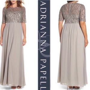 Adrianna Papell layover gown